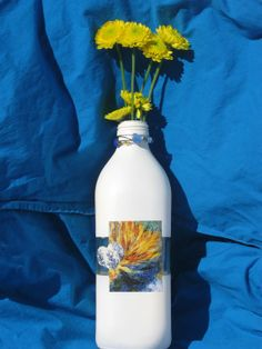 Renoir White Bottle.  This is an upcycled bottle by UponASunnyDay, $12.00