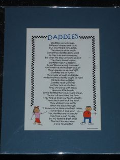 Hey, I found this really awesome Etsy listing at https://www.etsy.com/listing/70370285/daddies-poem