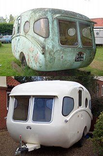 Featured Egg - 1957 Willerby.Notice which side of the trailer the entry door is located.This was built to be sold and used where people drive on the left hand side of the road!