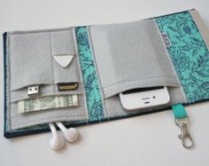 Nerd Herder gadget wallet in Hint of Mint for iPhone Android, iPhone Black. - Nerd Herder gadget wallet in Hint of Mint for iPhone Android, iPhone Blackberry, digital came - Iphone 4, Iphone 6 Wallet Case, Diy Wallet, Diy Phone Case, Best Iphone, Card Wallet, Apple Iphone, Nerd, Handmade Bags