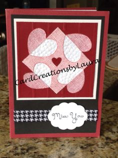 Quilted Hearts - CardCreationsbyLaura