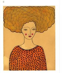 Art Print Goldie by ValerieGalloway on Etsy, $25.00