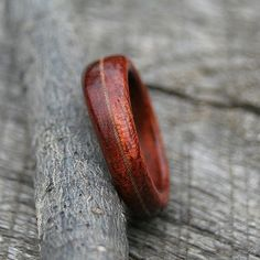 guess this would be how to make a wooden ring if, like me, you don't have a wood lathe handy