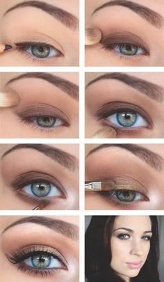 brown smokey with a pop of gold