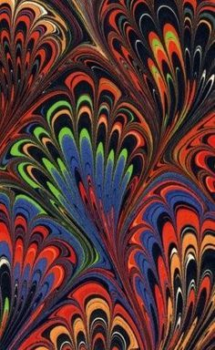 ebru on Pinterest | Paper Marbling, Water Marbling and Turkish Art