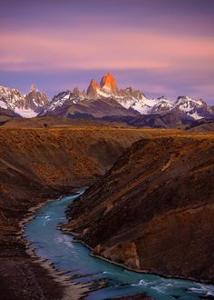 Fitz Roy at sunrise ~ Patagonia, Argentina. Illuminating II by Greg Boratyn