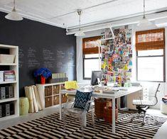 Decorando tu oficina en casa 02 - Blá - FOTO VÍA BETTER HOMES AND GARDENS