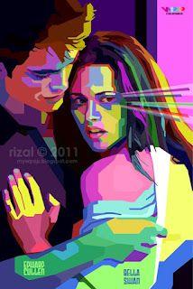 Robert Pattinosn aka Edward Cullen and Kristen Stewart aka Bella Swan in WPAP