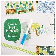 Fresh new products from Creative Memories. Cool Serenity design series is perfect for a travel scrapbook album and to scrapbook your summer and vacation photos. Click on photo to order now.