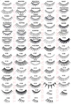 This could mark the beginning of false lashes-hoarding... GUIDE to ARDELL LASHES :: So handy!   #ardell #falsies #fakelashes