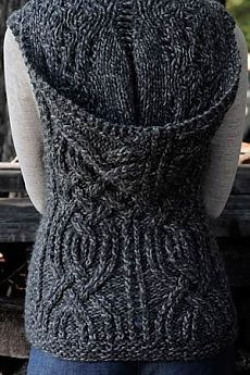 Leif Slipover sweater with hood knitting pattern and more hood and hoodie knitting patterns This looks challenging, but fun at the same time. Can't wait you try knitting it up. Loom Knitting, Knitting Patterns Free, Knit Patterns, Free Knitting, Free Pattern, Hood Pattern, Knitting Daily, Crochet Vest Pattern, Knit Or Crochet