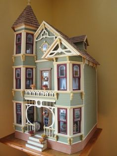 Gothic Victorian Style Wooden Doll House