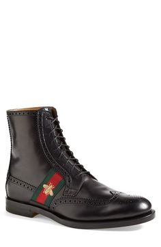 Gucci 'Strand' Wingtip Boot (Men) available at #Nordstrom
