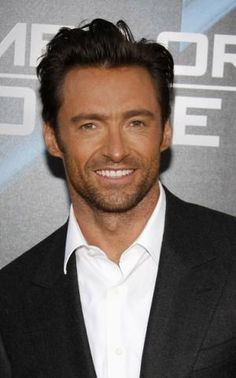 Hugh Jackman, that smile and the scruff gets me every time.