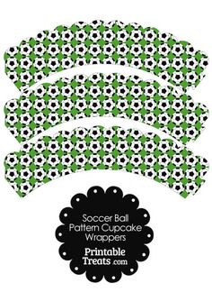 Cupcake Wrappers Soccer Ball Activities For Kids Hs Football Futbol Petite Section Children