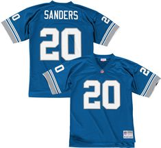 0a6010c7 Mitchell & Ness Men's 1996 Home Game Jersey Detroit Lions Barry Sanders #20