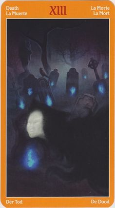 Trump 13 (Death) from the Fire Tarot #tarot