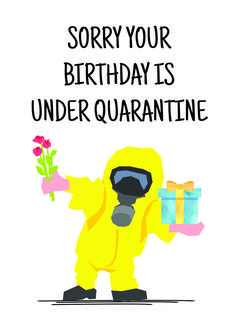 Quarantine Birthday Card, Happy Birthday Quarantine Card, Self Isolation Card, Funny Birthday Card for Him, Social Distance Birthday Card Happy Birthday Quotes For Friends, Happy Birthday Wishes Cards, Birthday Cards For Him, Happy Birthday Funny, Happy Birthday Images, Funny Birthday Cards, Birthday Memes, Funny Birthday Message, Sister Birthday