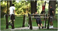 Design Outdoor fitness equipment in Montreal.
