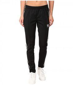 adidas Originals - Supergirl Track Pants (Black/White) Women's Casual Pants