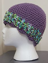 Ravelry: Banded toque with shell edge pattern by Lisa Adcock