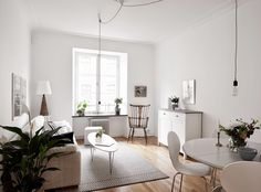 my scandinavian home: A white Swedish apartment with an interesting míx Oh My Home, Ideas Hogar, Scandinavian Home, Minimalist Interior, Living Room Inspiration, Small Apartments, Home Interior, Interiores Design, Home Living Room