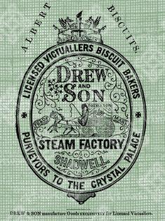 Digital Download Biscuit Bakers ad, Shadwell England UK, Albert Biscuits, Antique Illustration, digi stamp, digis, Advertisement. $2.49, via Etsy.