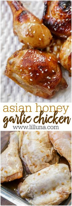 Asian Honey Garlic Chicken - a simple and delicious chicken recipe that can be baked or grilled to perfection.