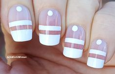 DIY Easy Nail Art Tutorial - Nail Designs For Beginners Too! I'm not a pro, and I learn always new designs and my head is full with 'H. French Manicure Nails, French Manicure Designs, Nail Art Designs, Tape Nail Art, Nail Tutorials, Simple Nails, How To Do Nails, Wedding Cards, Easy Diy