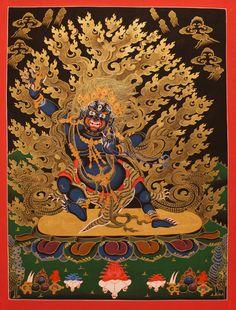 唐卡, Thangka Vajrapani
