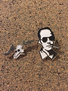 Hunter S Thompson Fear And Loathing in Las Vegas Hat Pin Set