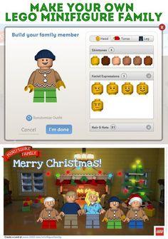 Make a LEGO Minifigure Family Postcard! Merry Christmas!
