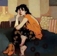 Milt Kobayashi, Contemporary Artist .....Comfortable Place... J'aime beaucoup et plus près de ce que je recherche. Une allure plus désinvolte. J'aime vraiment tout de ce portrait. Je me sens comme ça ce soir.