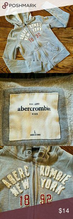 Abercrombie New York Kids warm hoodie.  Missing tie from hood, price reflects. abercrombie kids Shirts & Tops Sweatshirts & Hoodies
