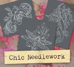 Chic Needlework (Design Pack) | Urban Threads: Unique and Awesome Embroidery Designs