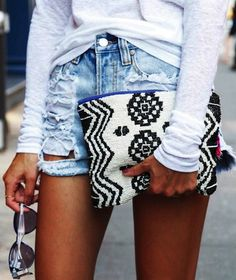 How to mix ethnic purses : Summer Outfit : Street Style : MartaBarcelonaStyle's Blog