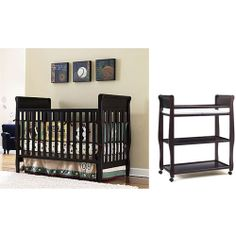 Graco Sarah 4-in-1 Convertible Crib and Changing Table in Classic Cherry - Value Bundle: Nursery Furniture : Walmart.com