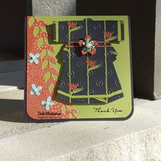 handmade card ... Asian theme ... kimono ... perfect patterned paper ane embossing folder ... orange and olive ... Stampin' Up!
