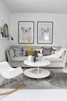DECO LIKES WHITE.: jak zagospodarować pustą ścianę?
