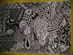 Zelfgemaakt #zentangle #doodle