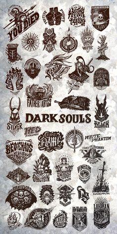 Dark Souls Emblem Collection - Dark Souls Emblem Collection on Behance by Robba SC Informationen zu Dark Souls Emblem Collection Pi - Sif Dark Souls, Arte Dark Souls, Dark Souls Artorias, Ornstein Dark Souls, Dark Fantasy, Fantasy Art, Witcher Wallpaper, Soul Tattoo, Tatuagem Old School