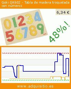 Goki GK602 - Tabla de madera troquelada con números (Juguete). Baja 48%! Precio actual 6,34 €, el precio anterior fue de 12,21 €. https://www.adquisitio.es/goki/gk602-tabla-madera