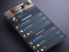 Finance App UI Timeline