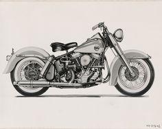 harleydavidsonfactoryphotos:  Harley Davidson factory artwork (1958)