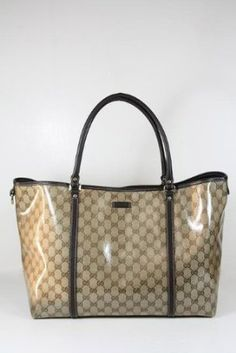 Gucci Handbags Large Beige Crystal (Coating) and Brown Leather 265696 $875.00