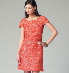 Sewing patterns for fashion clothing, crafts and home decorating. Dress sewing patterns, evening and prom sewing patterns, bridal sewing patterns, plus costume and cosplay sewing patterns. Mccalls Sewing Patterns, Dress Patterns, Wardrobe Makeover, Queen Dress, Lace Overlay Dress, Miss Dress, One Piece Dress, Fashion Sewing, Evening Dresses
