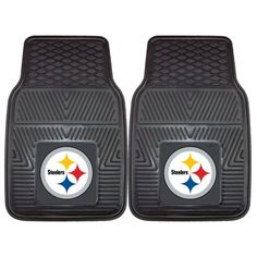 FANMATS NFL Pittsburgh Steelers Vinyl Heavy Duty Vinyl Car Mat