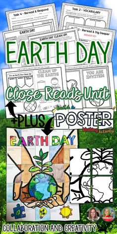 EARTH DAY, CLOSE READS UNIT, COLLABORATIVE POSTER, WRITING ACTIVITY   Earth Day is a wonderful spring celebration around the world. In April, Schools around the world come together to recognize our beautiful planet Earth. Your students will enjoy learning about the history, symbols, meanings, and the importance of Earth Day with the components of this engaging, helpful resource!