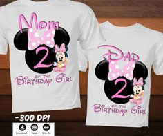 b70a6aa41 Personalized Little Minnie Mouse Iron on Transfer T-Shirt-Family Disney  Birthday Shirt-
