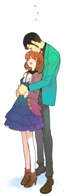 Ow O So cuuuute~ Lupin and Clarisse from 'Castle of Cagliostro'.